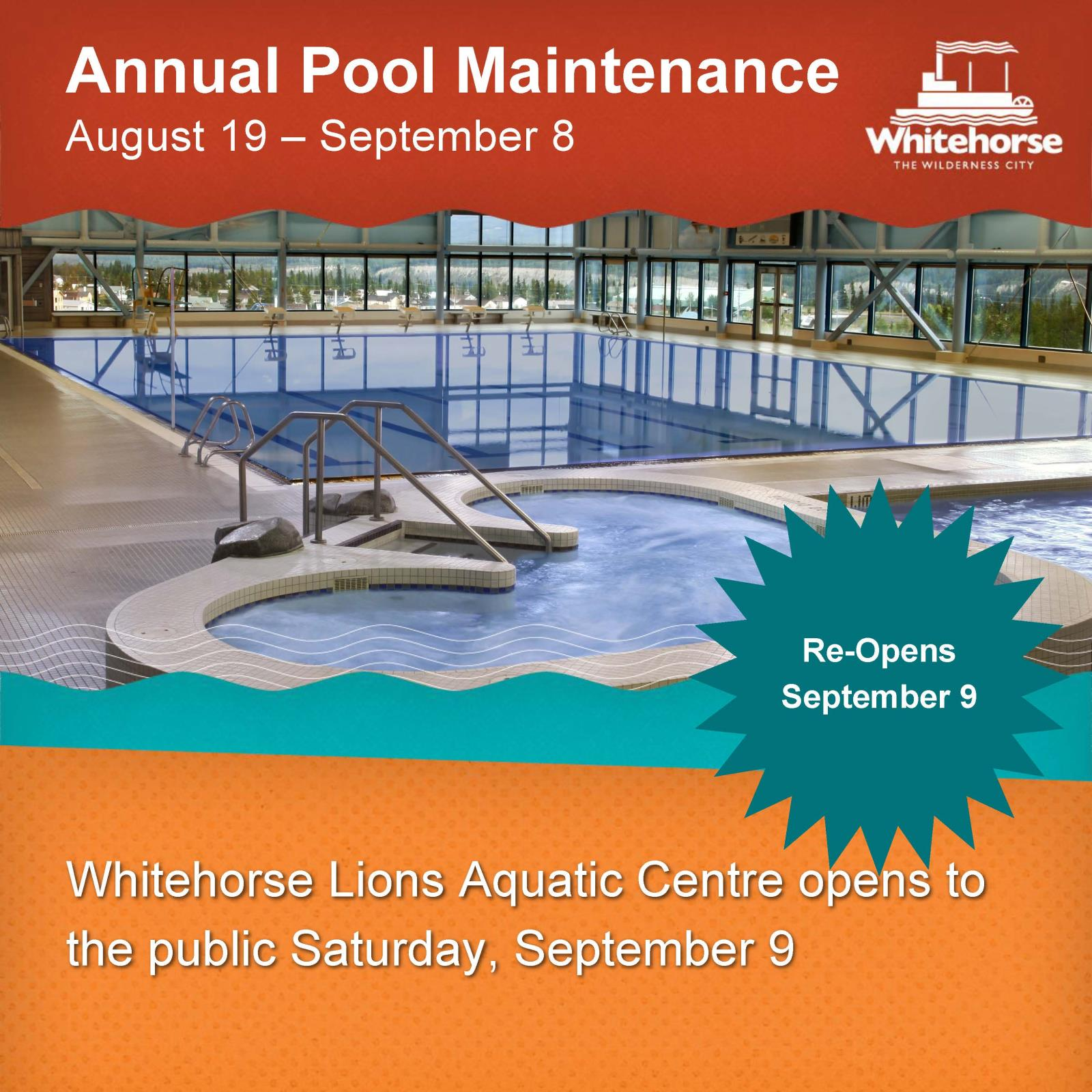 Pool Maintenance Shut Down